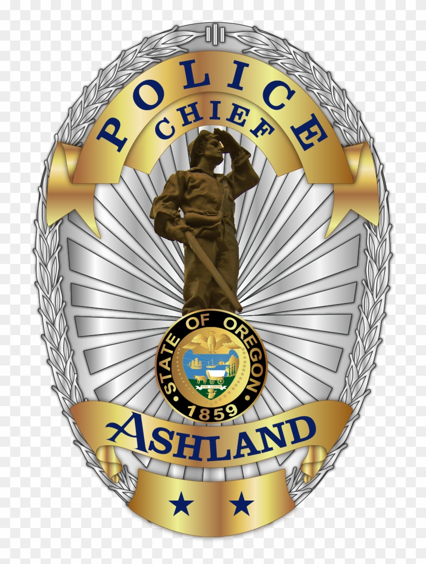 The Two Stars On The Bottom Of The Badge Represent - Ashland Oregon Police Badge #958768