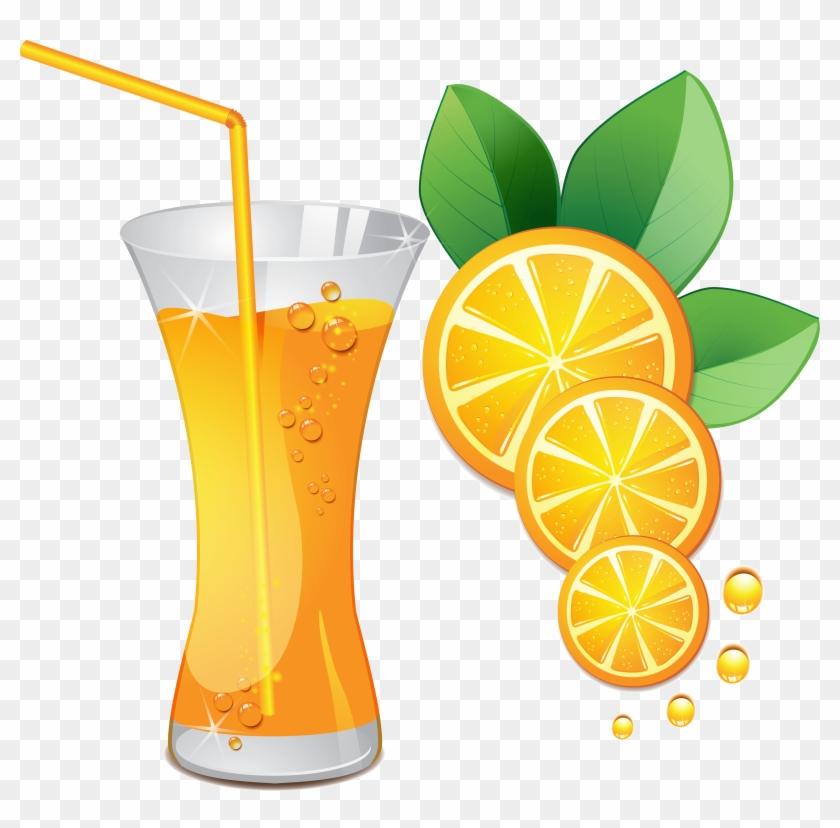 Juice Fresh Orange Clipart Png Clip Art - Fruit Juice Clipart Png #958860