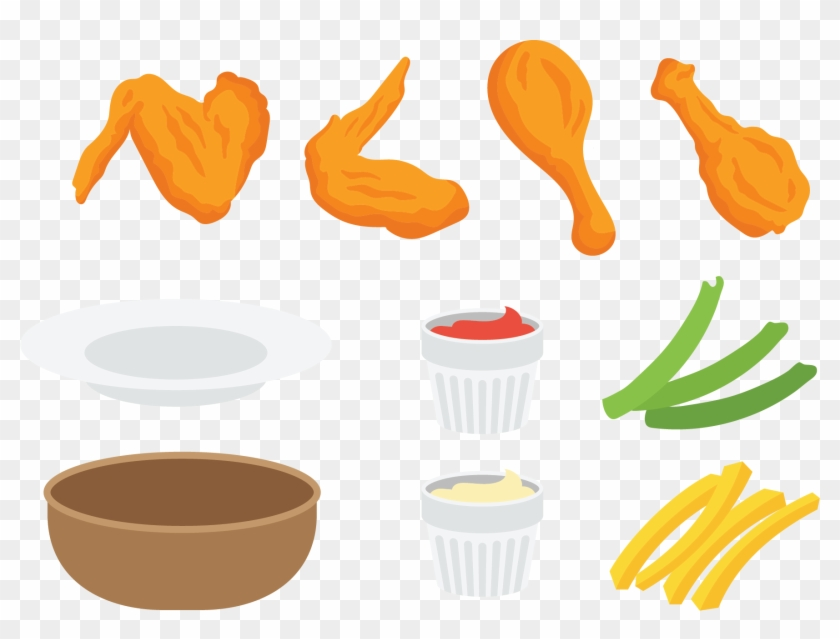 Buffalo Wing Fried Chicken Junk Food Clip Art Clip Art Chicken