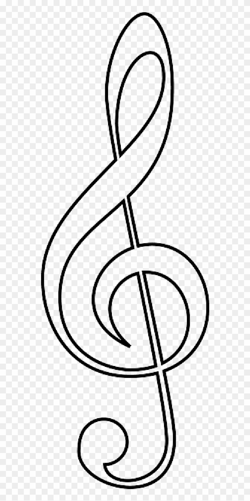 Person Outline Coloring Page Drawing Of A Music Note Free