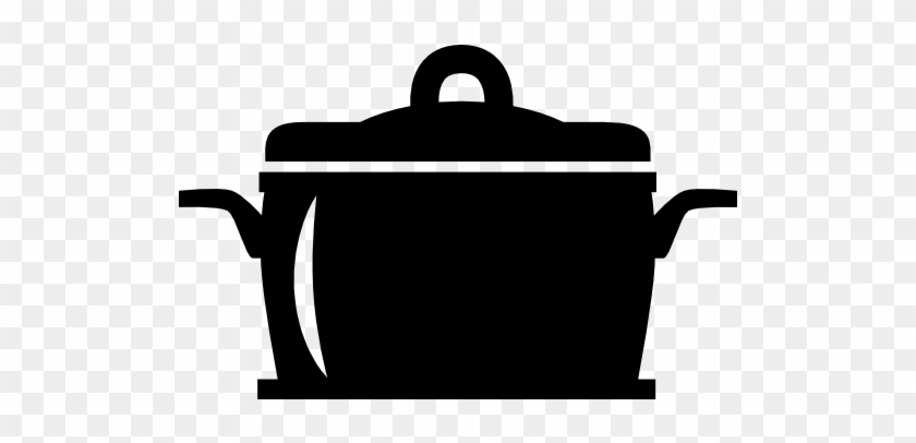Saucepan With A Lid Icon - Black Cooking Pot Icon #959504