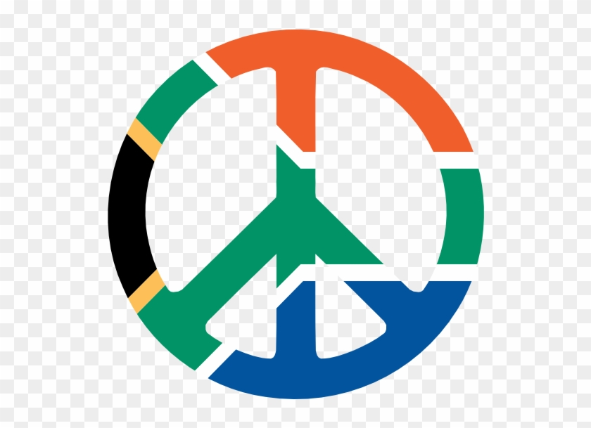 Peace Sign Clipart Cnd - Flag Of South Africa #959834