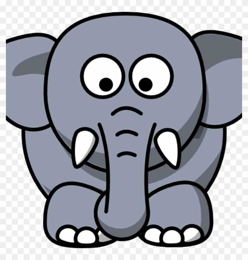 Elephant Face Clipart Letters Format Dinosaur - Elephant Drawing Cartoon #960351