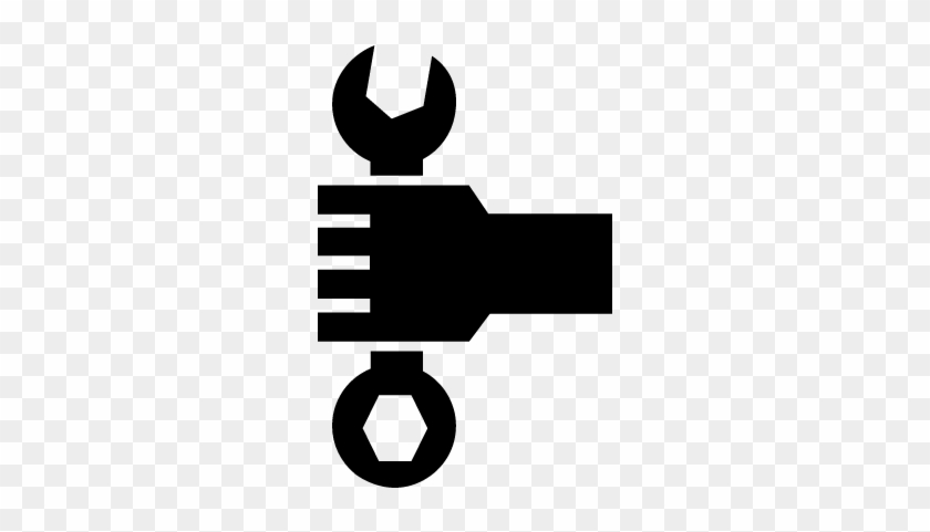 Hand Holding A Wrench Vector - Hand Holding Tool Icon #960423