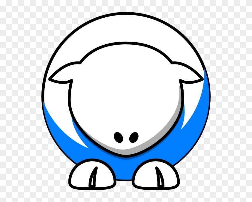 White On Bright Blue No Eyeballs Svg Clip Arts 564 - Cara De Cabra Caricatura #960487