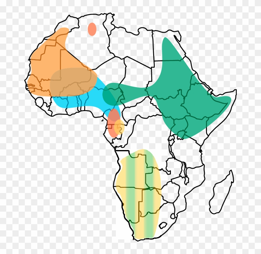 Geographic Distribution Of Deep Rooting Haplogroups - Fill In Map Of Africa #960489