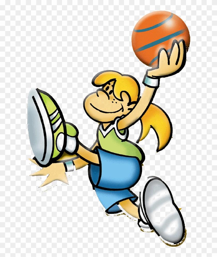 Amigos Jugando Basquet - Pases De Baloncesto Animado - Free