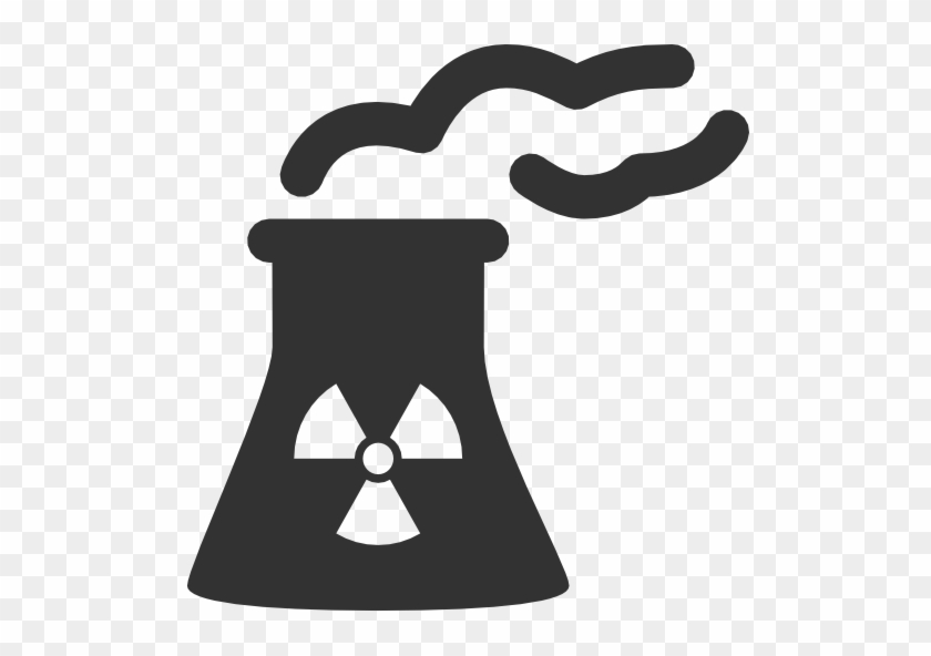 Nuclear Clipart Nuclear Reactor - Nuclear Power Plant Icon #961853