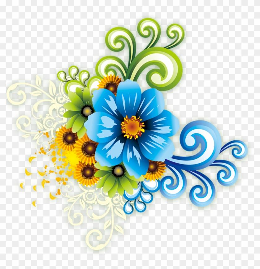 Floral Design Template Flower - Floral Flower Wall Sticker 206 #961888