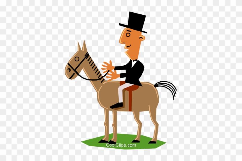 Mann Auf Einem Pferd Vektor Clipart Bild Horse Free Transparent