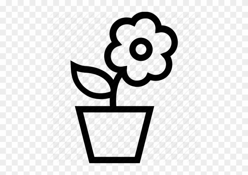 Flower Pot - Diwali Flower Pot Outline - Free Transparent PNG Clipart  Images Download