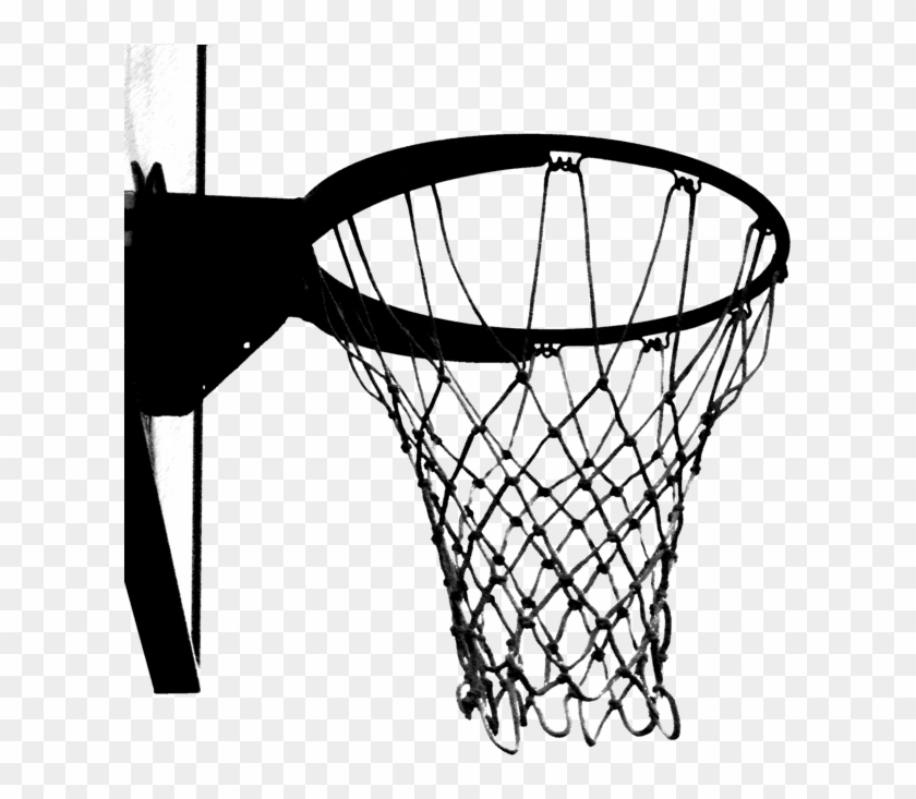 Basketball Hoop Found At The Park In Black And White - ClipArt ... | 733x840