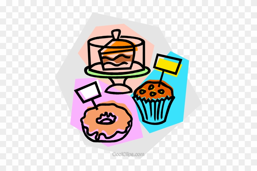Baked Goods For Sale Royalty Free Vector Clip Art Illustration - Clip Art Baked Goods #964519