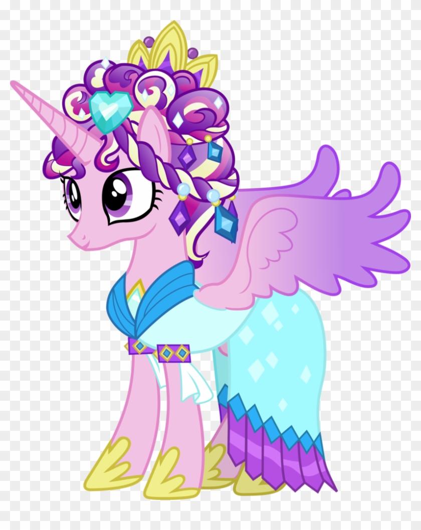 Cadance Royal Crystal Mane By Rolin11 - My Little Pony Cadance Dress #964763
