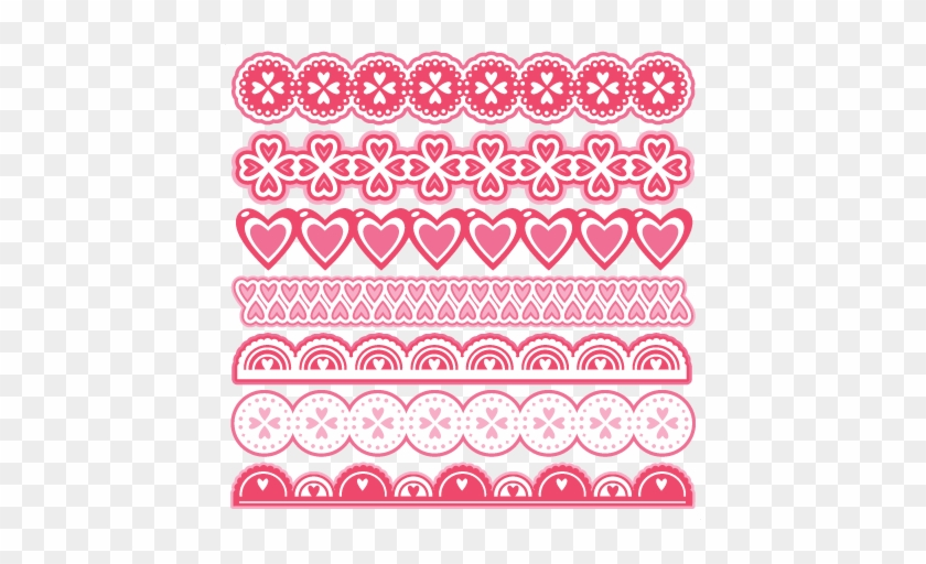 Valentine Borders Scrapbook Cuts Svg Cutting Files Scrapbooking