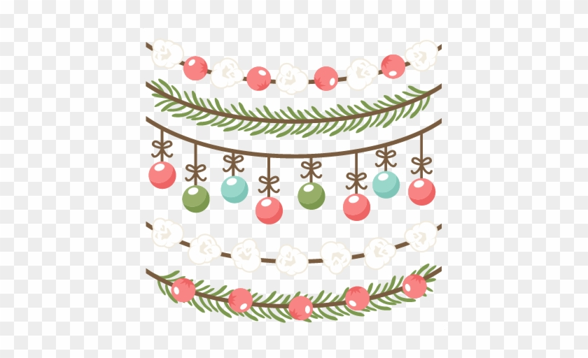 Christmas Borders Scrapbook Clip Art Christmas Cut - Christmas Ornament Border Clipart Free #965500