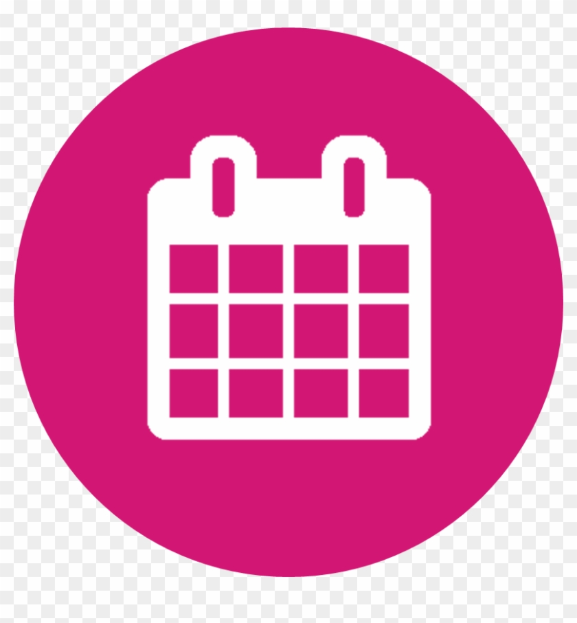 Wednesday 6th July - Pink Calendar Icon Png #966252