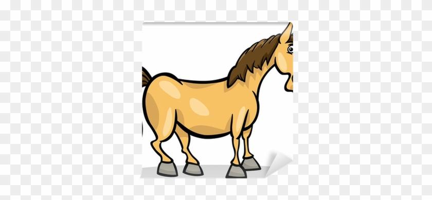 Fotomural Caballo De Granja De Dibujos Animados De - Farm Animal Cartoon Horse #967201