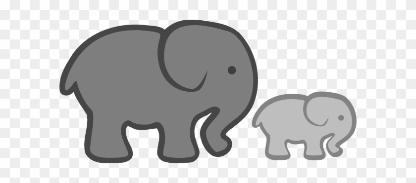 Baby Elephant Clipart Cartoon Collection - Gray Elephant Baby Shower #967437