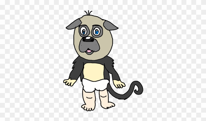 Puppy Monkey Baby Drawing Puppymonkeyba Kallytoonsstudios - Puppy Monkey Baby Drawing #967829