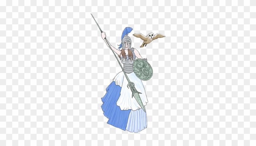 Greek God Athena Drawing Greek Mythology Pictures Cartoon Free
