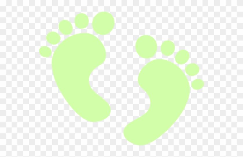 Feet Clipart Footprint - Green Baby Feet Clip Art #968977