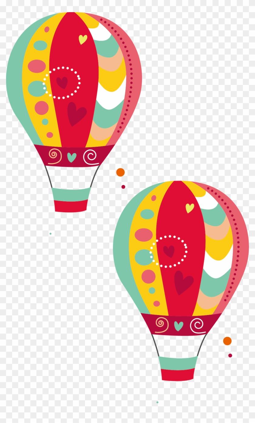 Wedding Invitation Birthday Hot Air Balloon - 圖案 素材 - Free ...