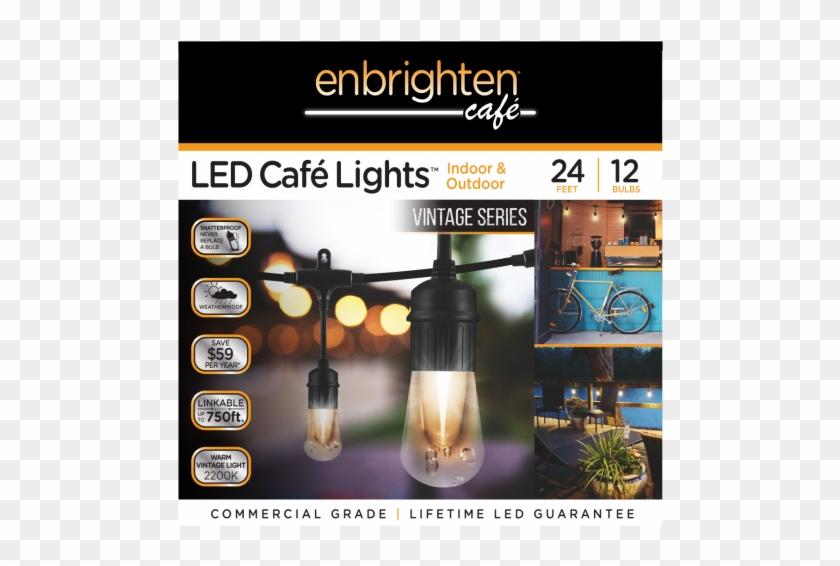 Jasco Enbrighten Café Led Lights Vintage Edition In - Enbrighten 12 Ft. Vintage White Led Cafe String Lights #969806