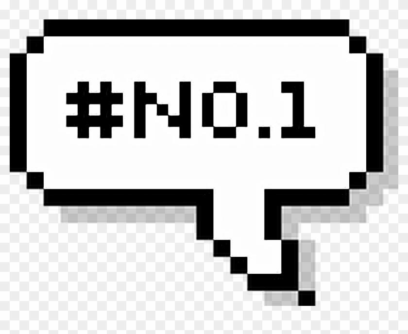 1 Speech Bubble/text No - Pixel Speech Bubble Png Hello