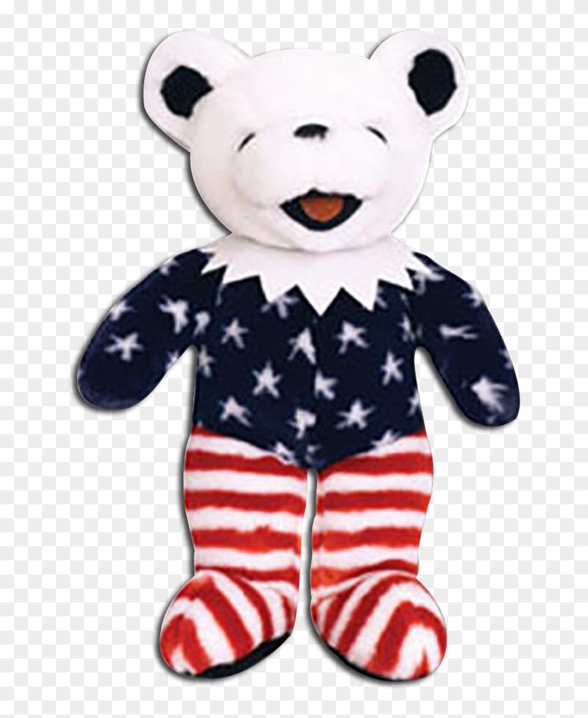 Grateful Dead Patriotic Stuffed Teddy Bears - Teddy Bear #970314