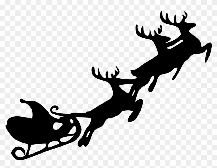 Free Reindeer And Sleight Clipart