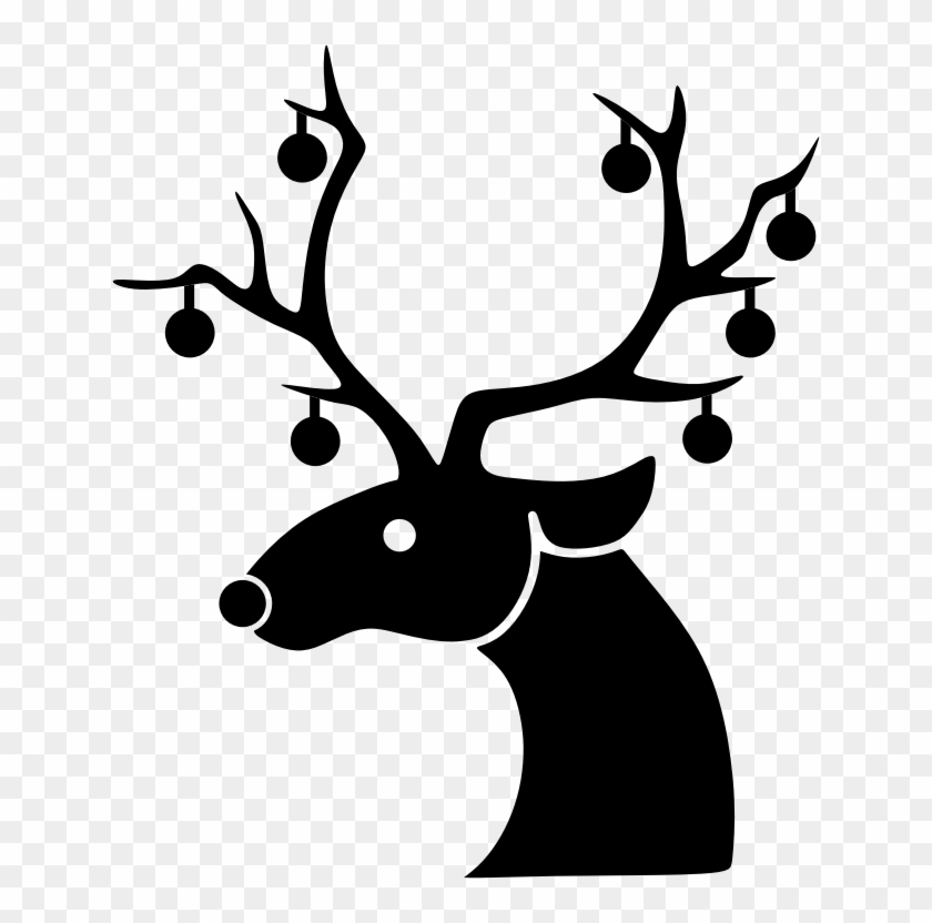 Christmas Reindeer Silhouette Png - Sequin Christmas Reindeer Oval Ornament #970574