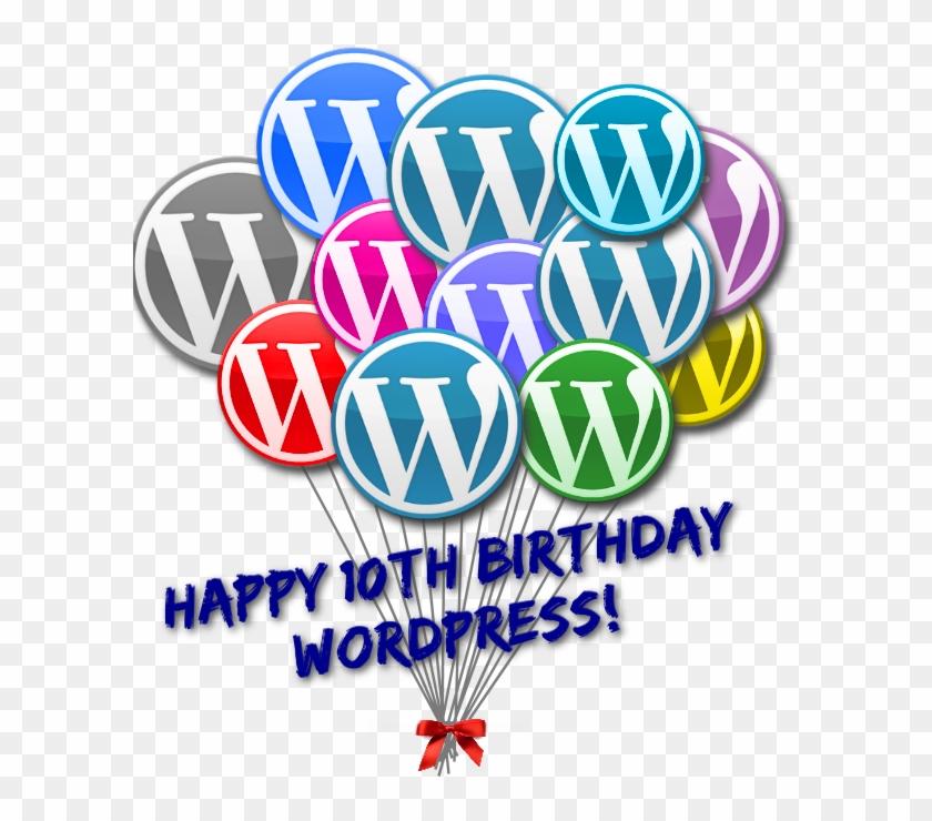 Wordpress 10th Anniversary Birthday Balloons