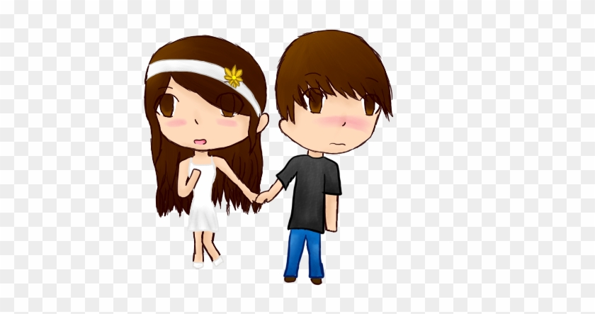 Holding Hands~ By Anime Gamer Girl - Cartoon Boy And Girl Holding Hand #970998
