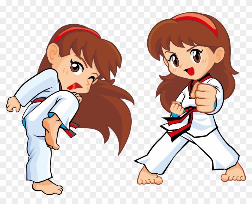 Techniques Karate Kick Martial Arts Taekwondo Cartoon Free Transparent Png Clipart Images Download