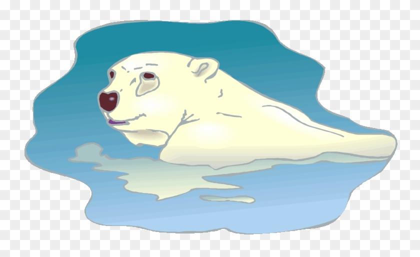 Free Boy Baby Shower Clip Art Download - Polar Bear Swimming Clipart #971642