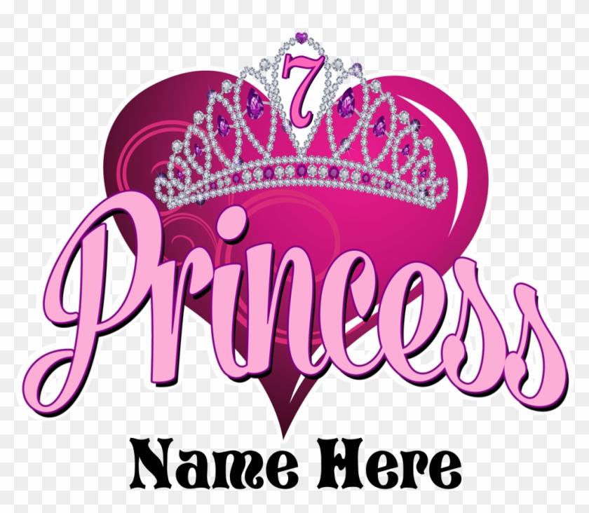 Princess 7th Birthday Kids Light T Shirt