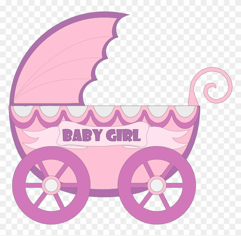 Baby Carriage Stroller Flat Design Style Stock Photo - Blue Baby Stroller Clip Art #971985