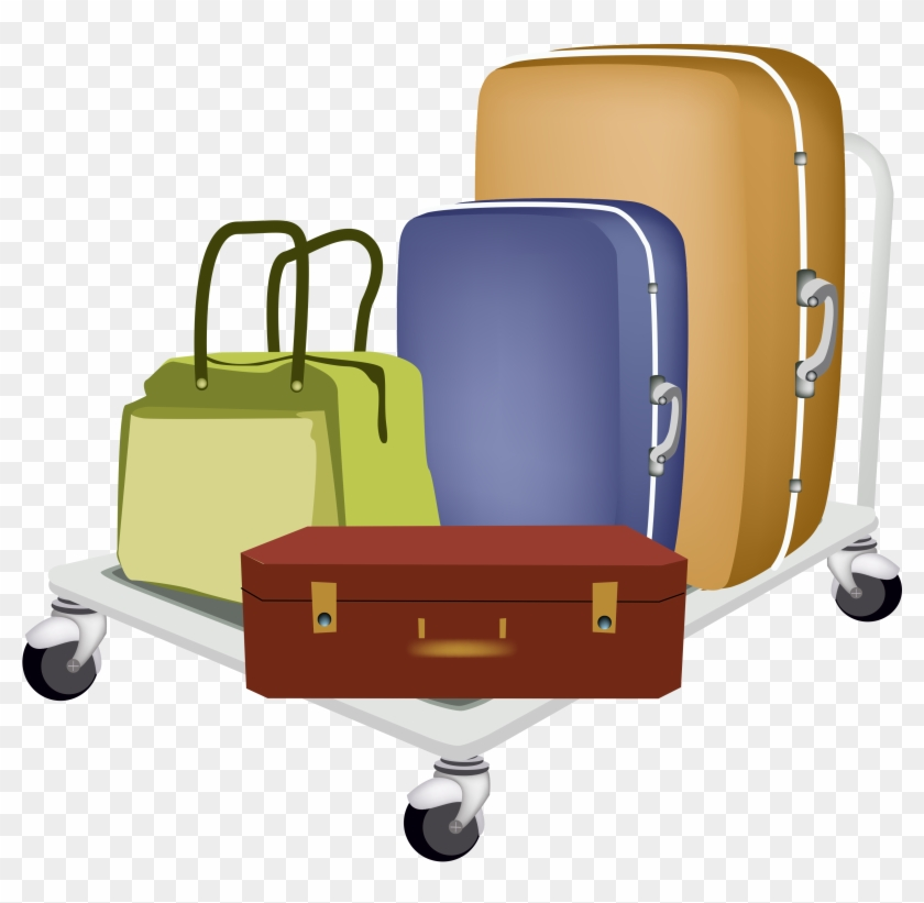 Baggage Cart Travel Suitcase Hand Luggage - Baggage #972005