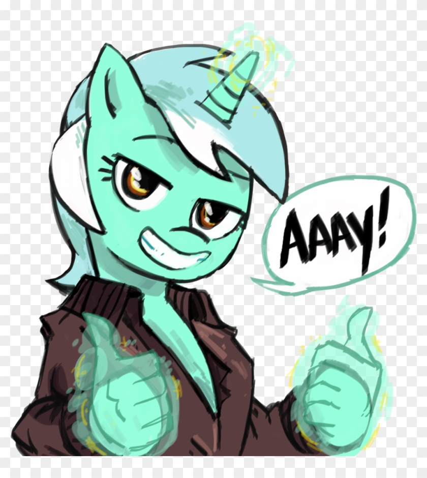 Herny, Clothes, Fonzie, Grin, Hand, Happy Days, Hologram, - Pony Thumbs Up #972555