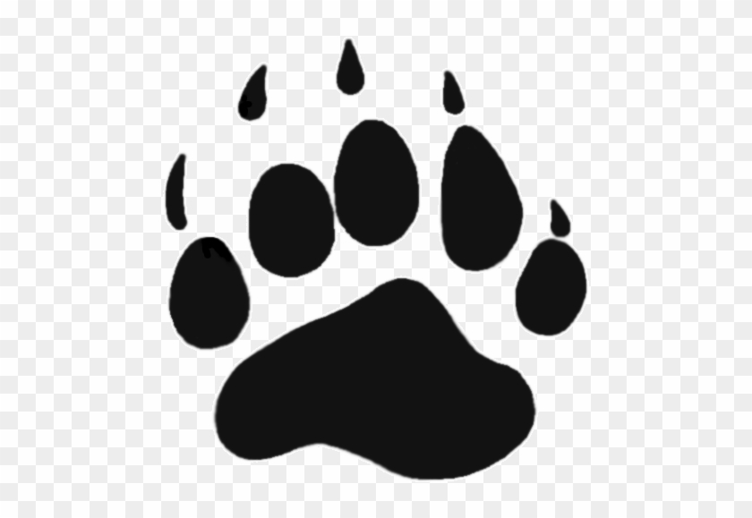 Grizzly Bear Paw Print Clipart - Mountain View High School Orem Logo #972711