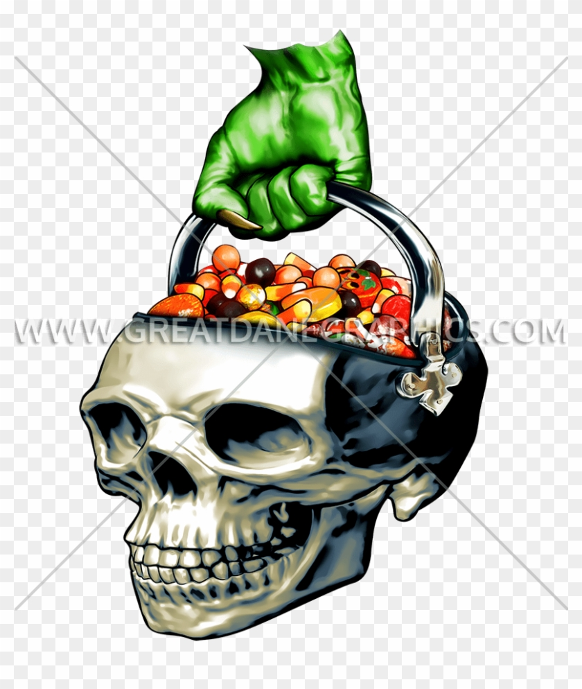 Zombie Skull Candy Bucket Women's Tank Top #972741