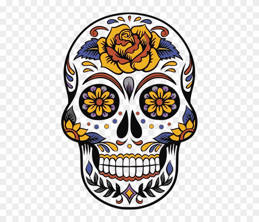 Your Presence As A Wamm Member Is Requested On Halloween, - Sugar Skull Clip Art #972757