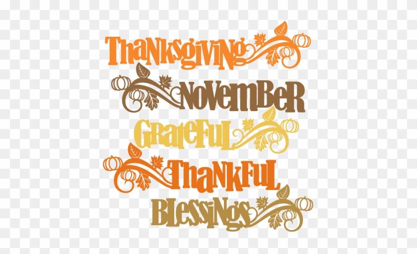 Thanksgiving Word Titles Svg Scrapbook Cut File Cute - Free Thanksgiving Svg Files #973099