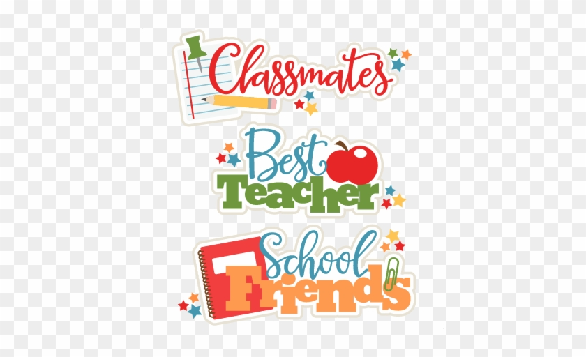 School Class Titles Set Svg Scrapbook Cut File Cute - School Friends Logo Design #973108