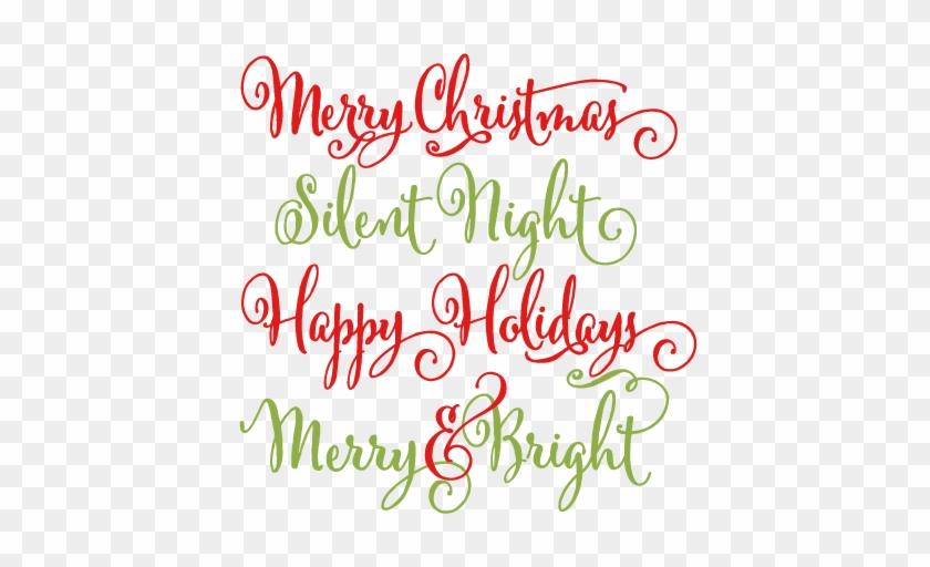 Christmas Phrases Scrapbook Clip Art Christmas Cut Free Cricut Christmas Svg Files Free Transparent Png Clipart Images Download