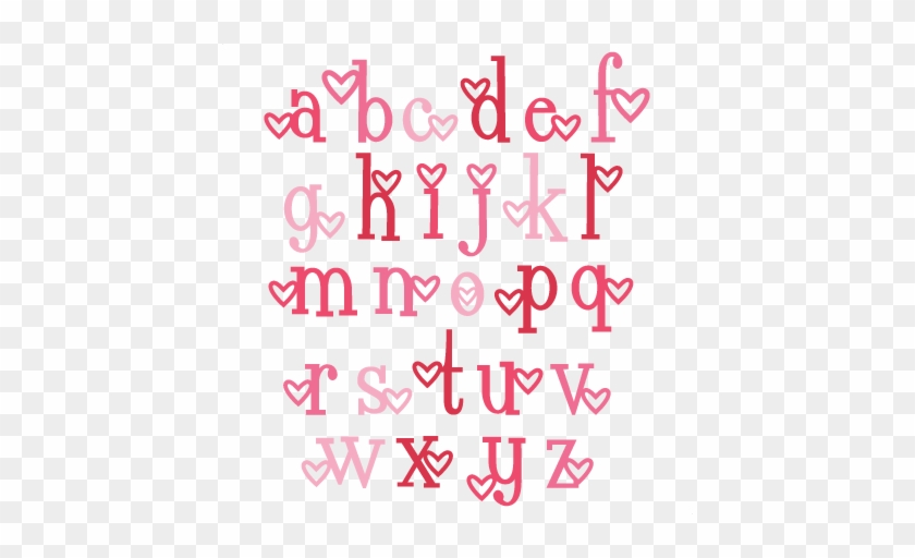 Heart Alphabet Lowercase Svg Scrapbook Cut File Cute - Cute Hearts #973146