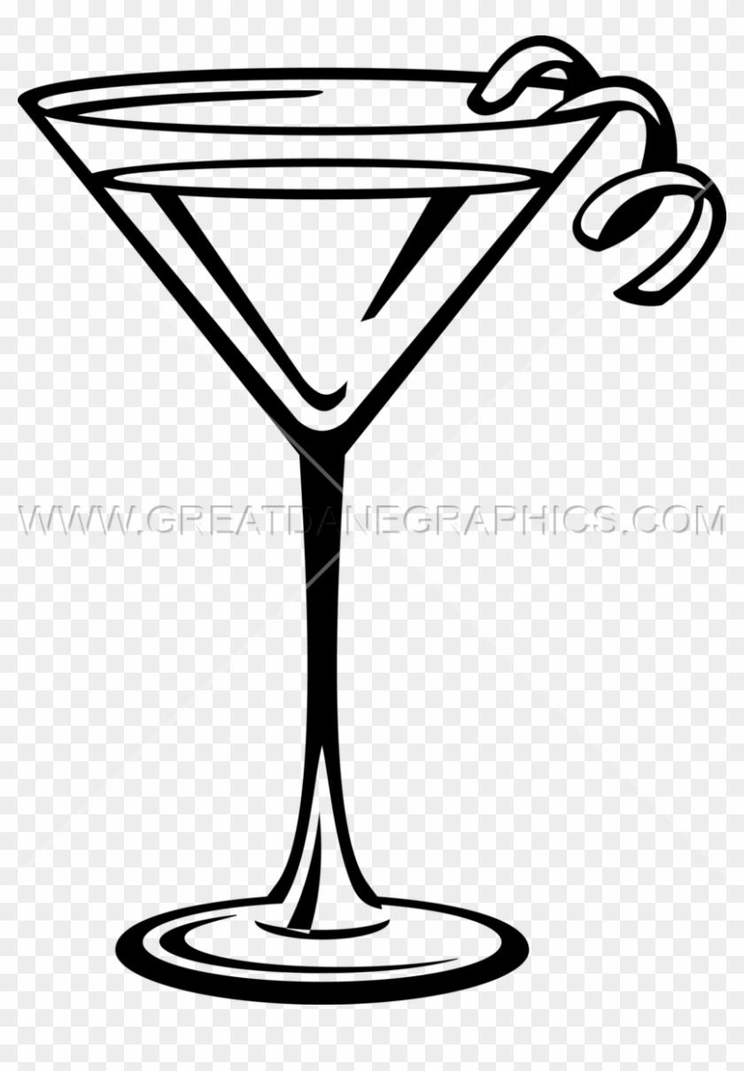 Martini Glass Drink Martini Glass Clipart Black And White Free