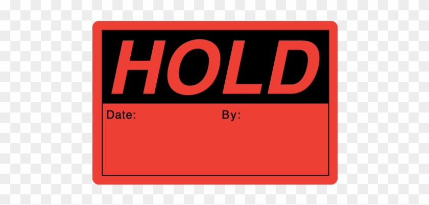 """Hold 2"""" X 3"""" Rectangle Black On Fluorescent Red Stickers - Reject Sticker Quality Control #973666"""