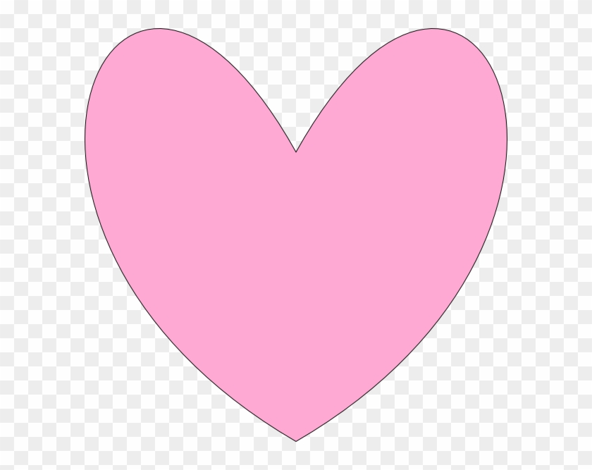 Love Heart Outline Pink #974011